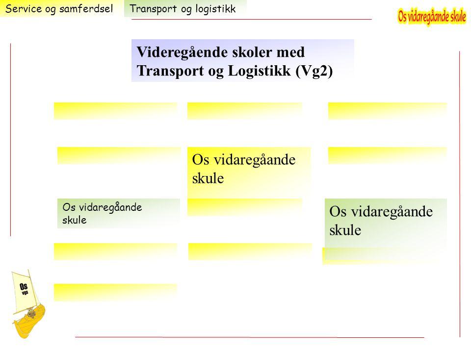 Videregående skoler med Transport og Logistikk (Vg2)