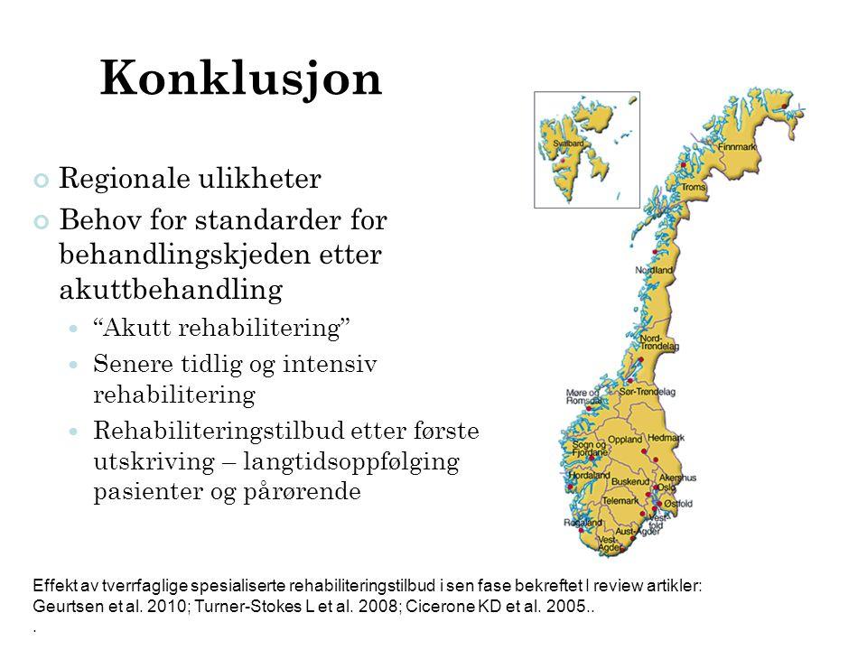 Konklusjon Regionale ulikheter