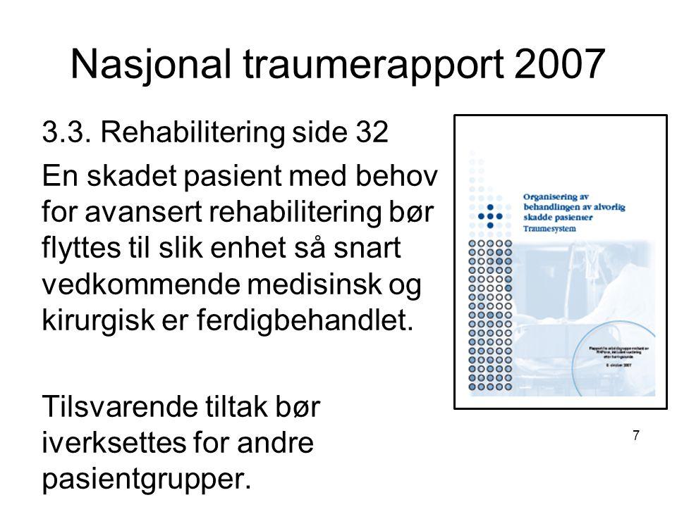 Nasjonal traumerapport 2007