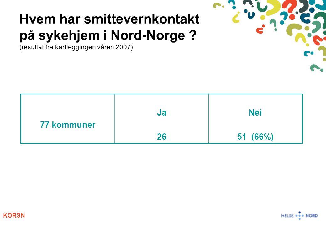 Hvem har smittevernkontakt på sykehjem i Nord-Norge