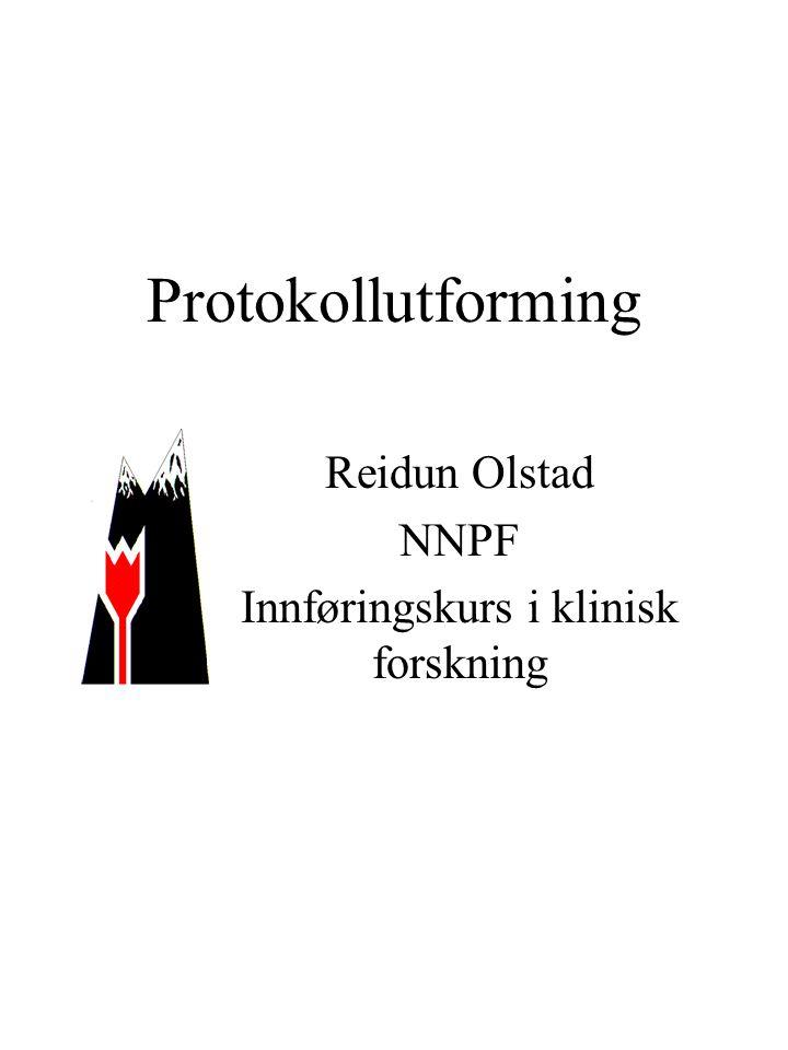 Reidun Olstad NNPF Innføringskurs i klinisk forskning
