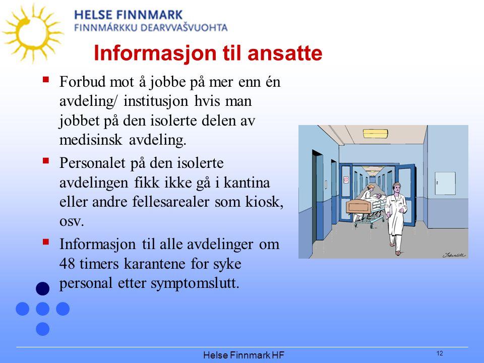 Informasjon til ansatte