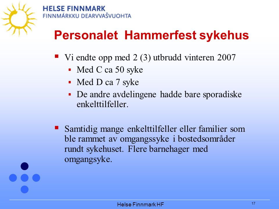 Personalet Hammerfest sykehus
