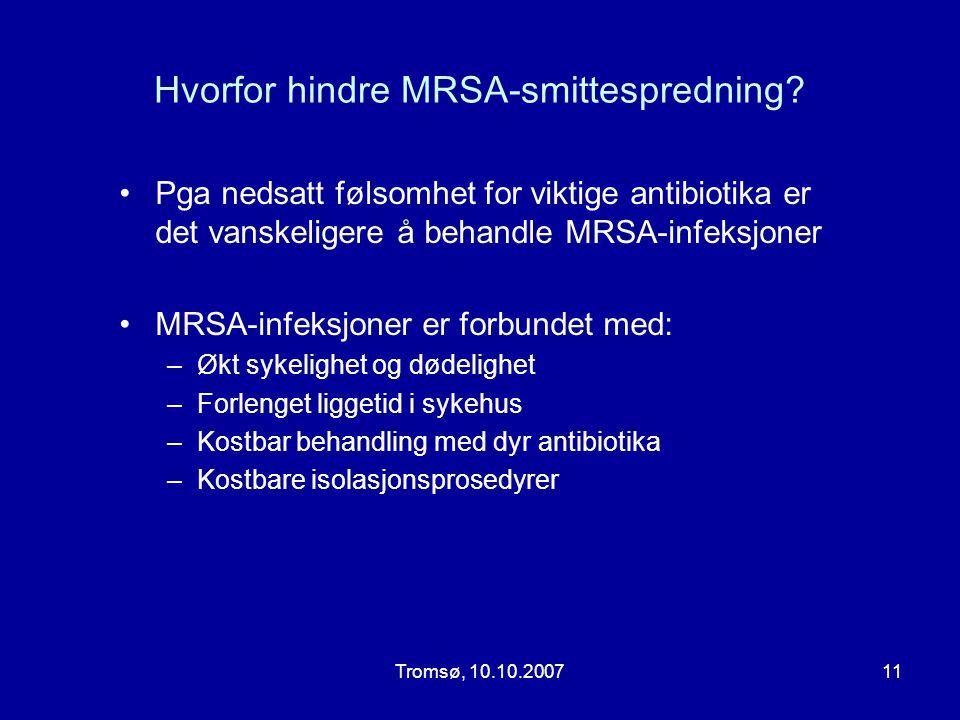 Hvorfor hindre MRSA-smittespredning