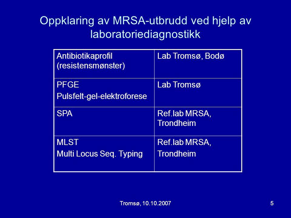 Oppklaring av MRSA-utbrudd ved hjelp av laboratoriediagnostikk