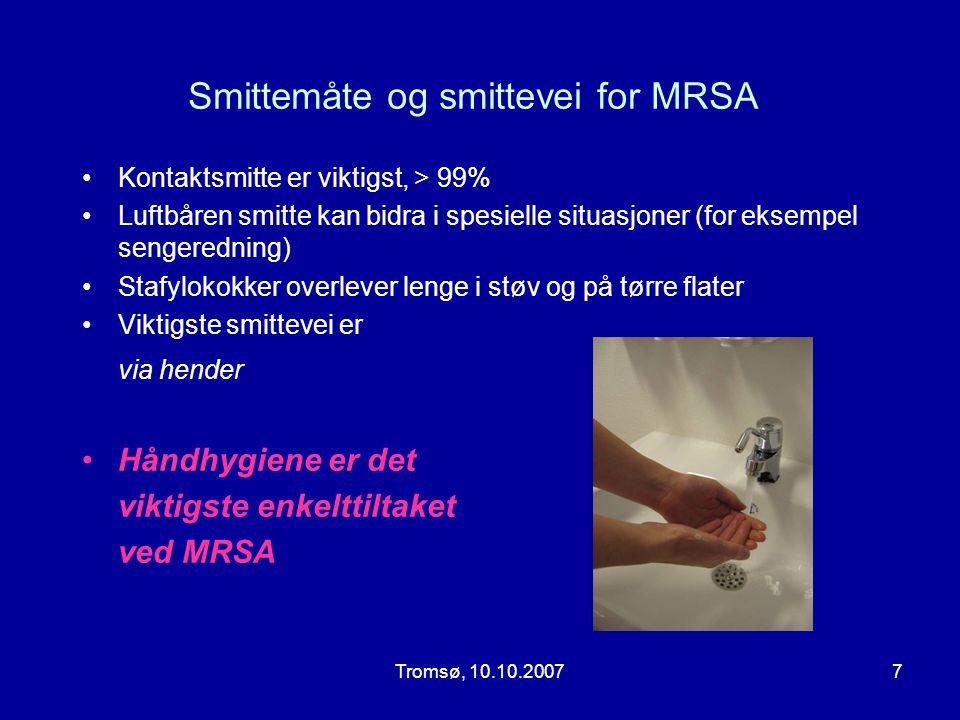 Smittemåte og smittevei for MRSA