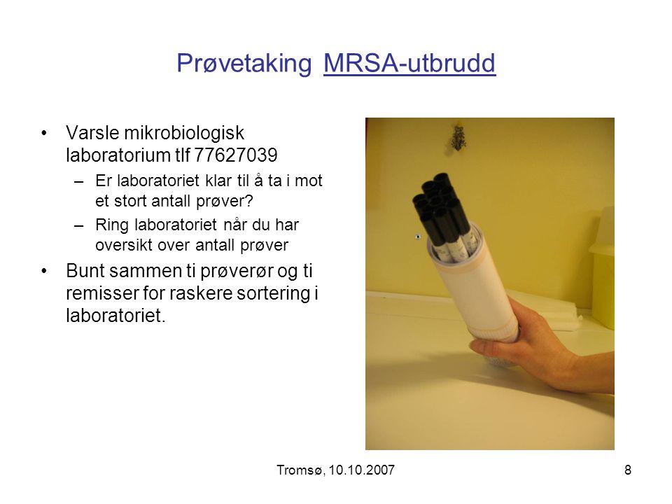 Prøvetaking MRSA-utbrudd
