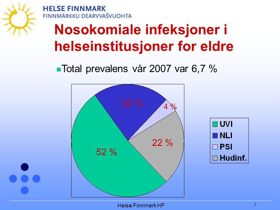 Nosokomiale infeksjoner i helseinstitusjoner for eldre