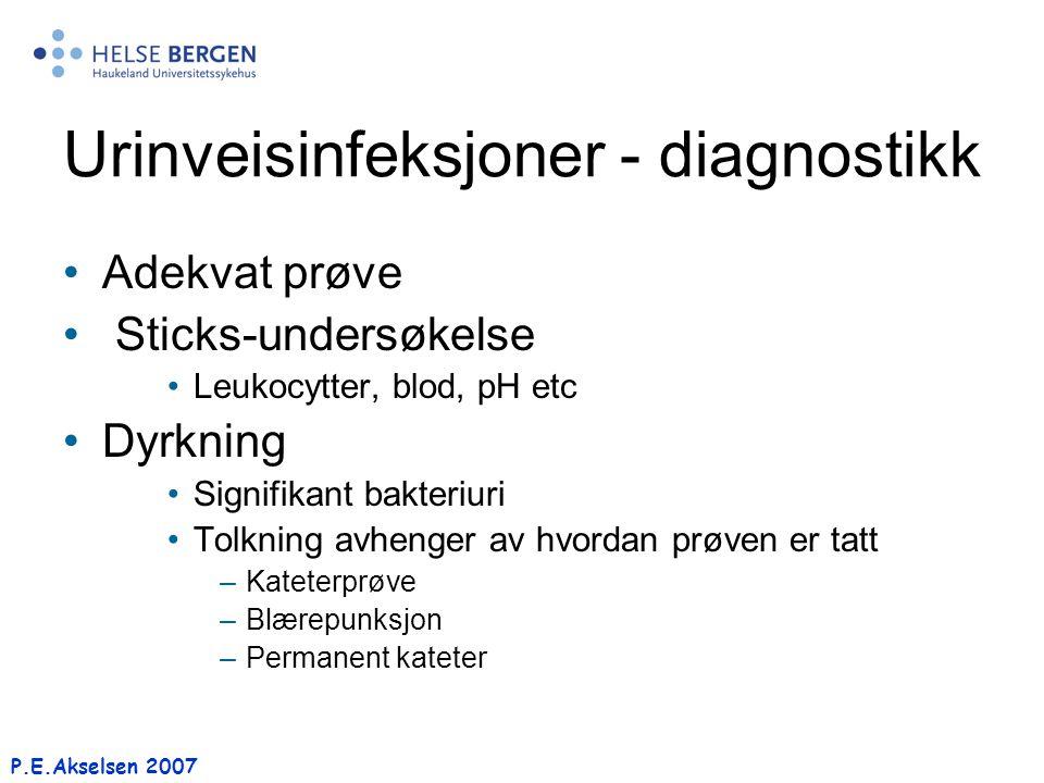 Urinveisinfeksjoner - diagnostikk