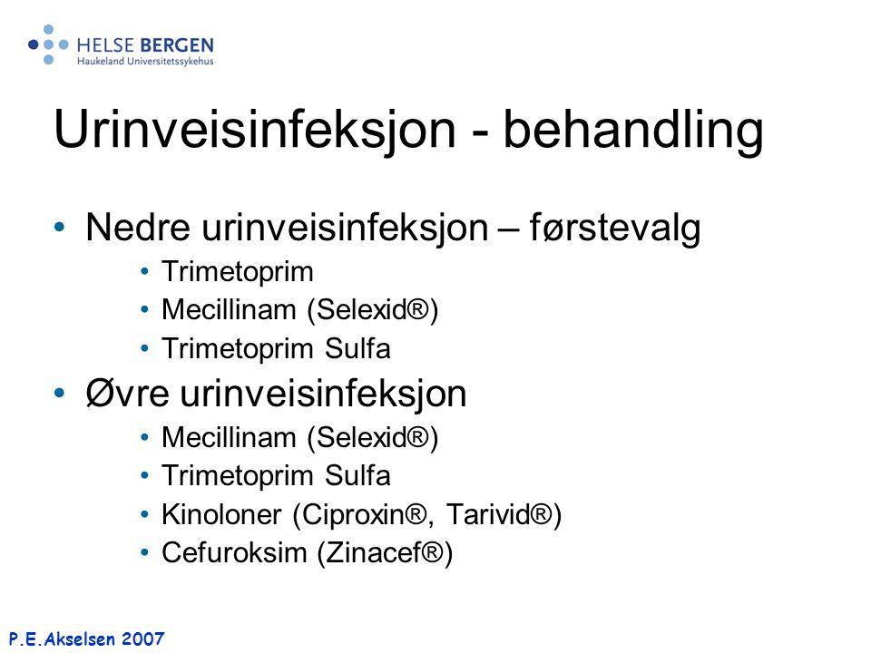 Urinveisinfeksjon - behandling