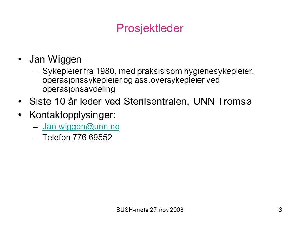 Prosjektleder Jan Wiggen