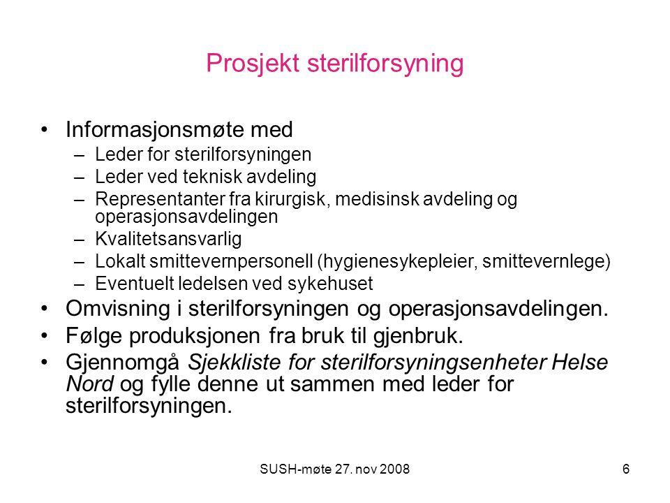 Prosjekt sterilforsyning