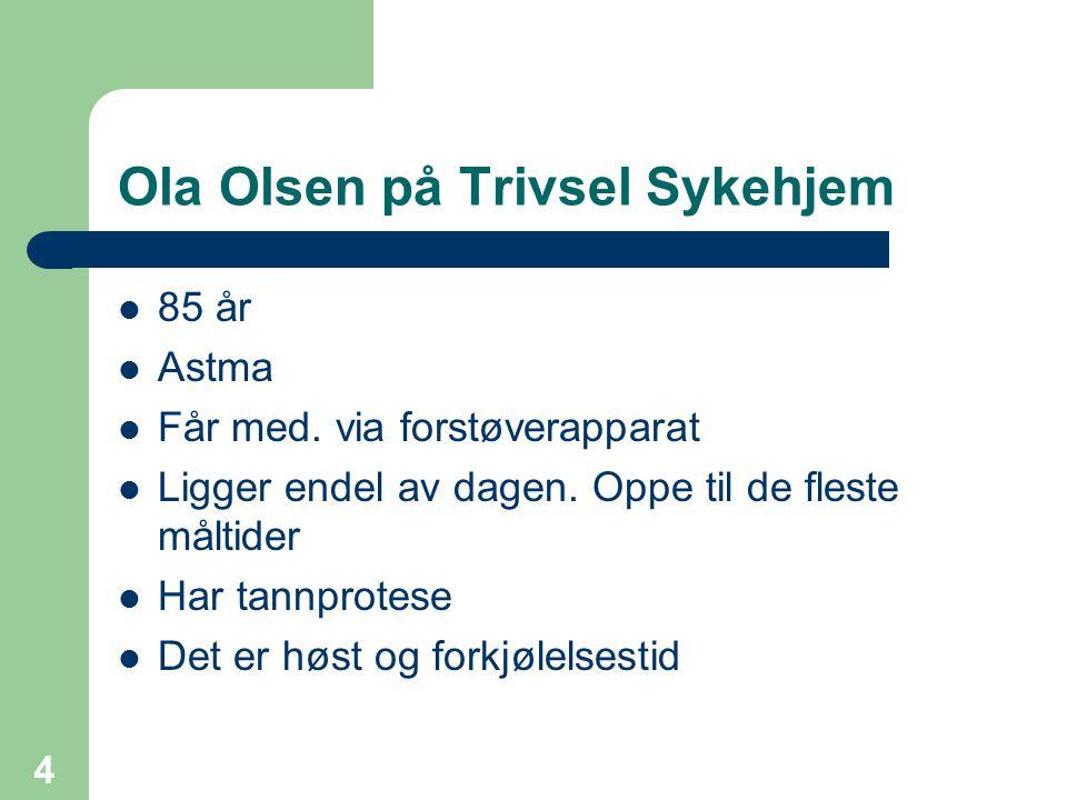 Ola Olsen på Trivsel Sykehjem