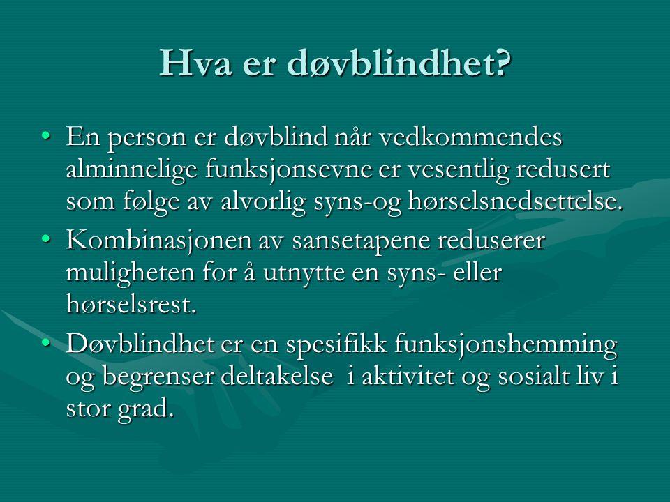 Hva er døvblindhet