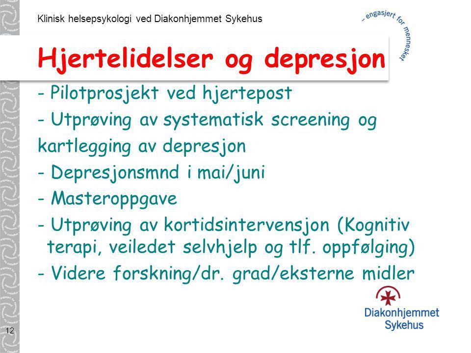 Hjertelidelser og depresjon