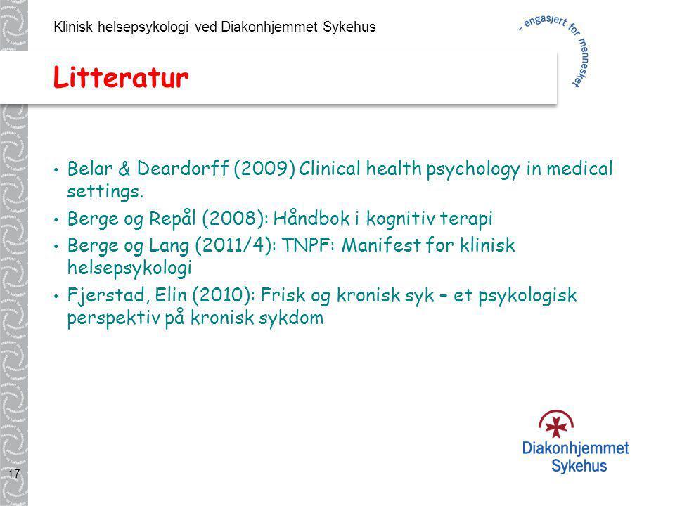 Klinisk helsepsykologi ved Diakonhjemmet Sykehus