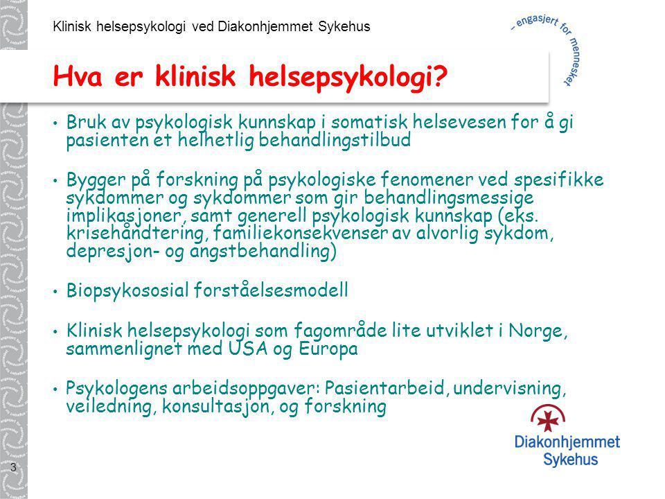 Hva er klinisk helsepsykologi