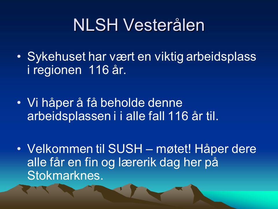 NLSH Vesterålen Sykehuset har vært en viktig arbeidsplass i regionen 116 år. Vi håper å få beholde denne arbeidsplassen i i alle fall 116 år til.