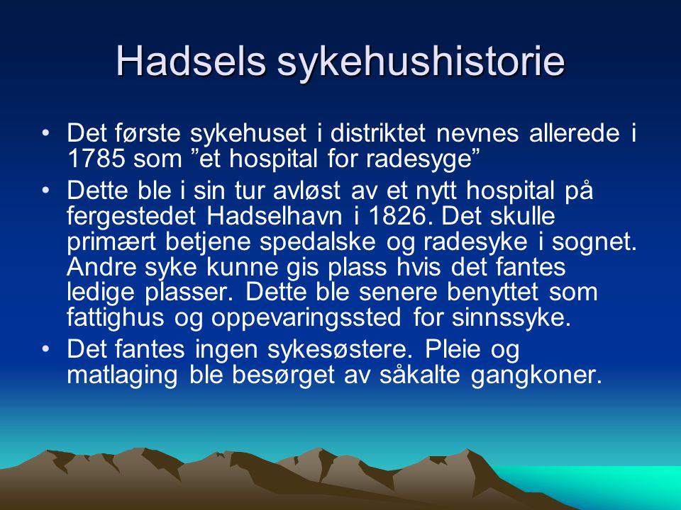 Hadsels sykehushistorie