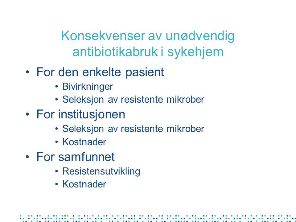 Konsekvenser av unødvendig antibiotikabruk i sykehjem