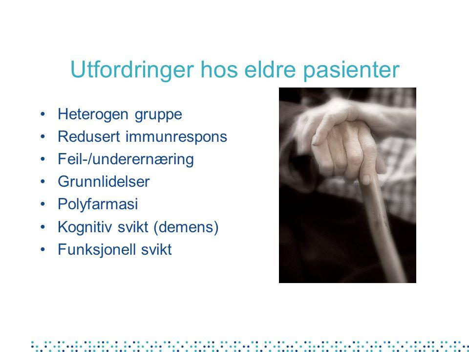 Utfordringer hos eldre pasienter