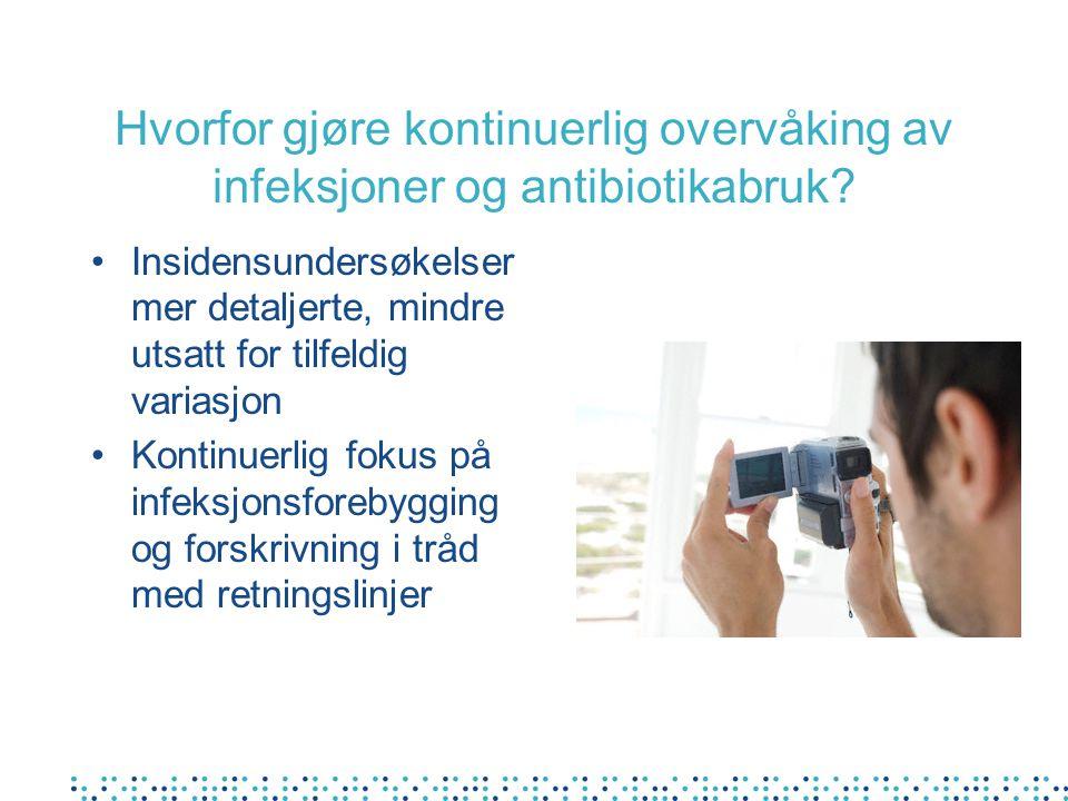Hvorfor gjøre kontinuerlig overvåking av infeksjoner og antibiotikabruk