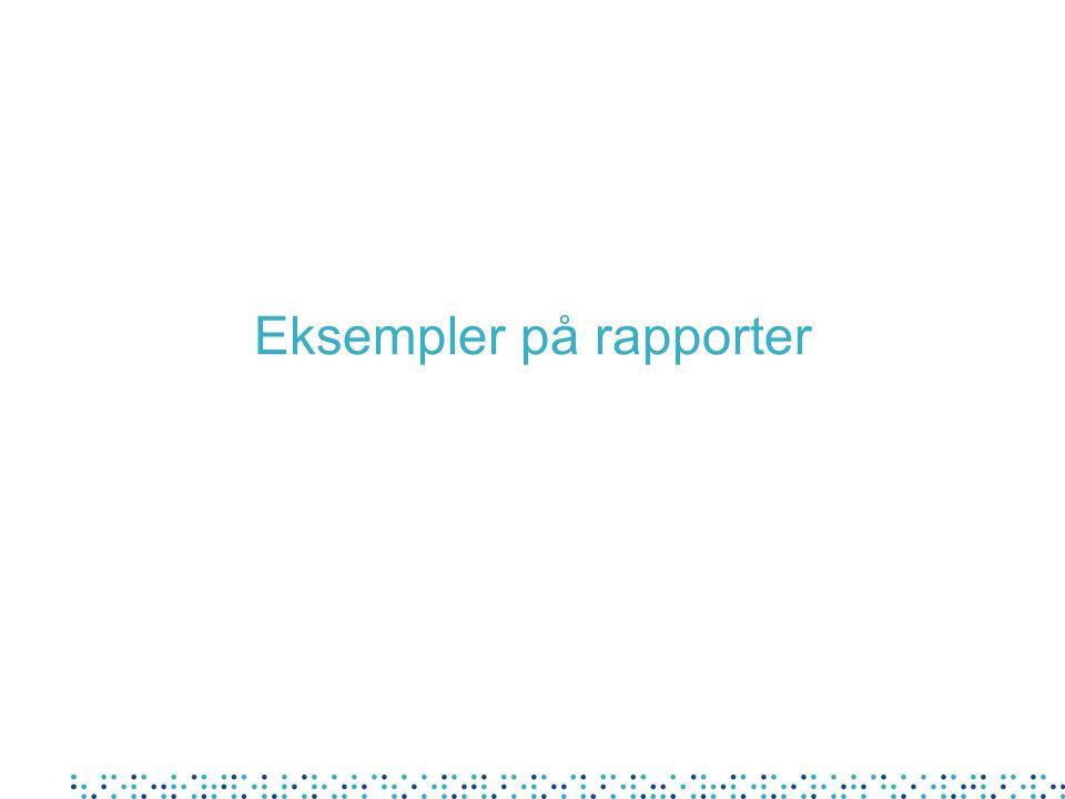 Eksempler på rapporter