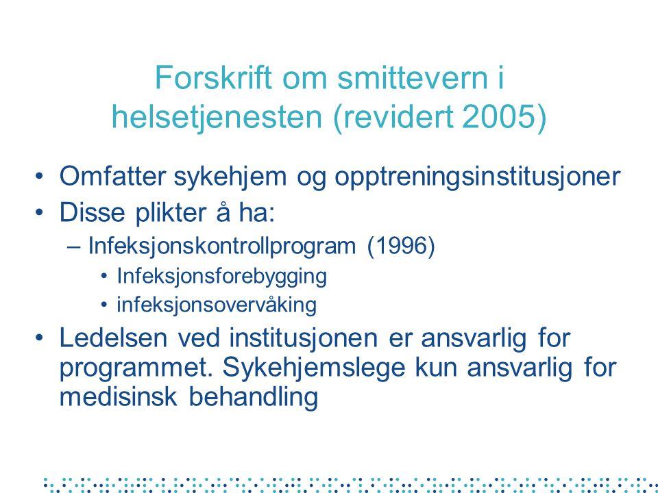Forskrift om smittevern i helsetjenesten (revidert 2005)