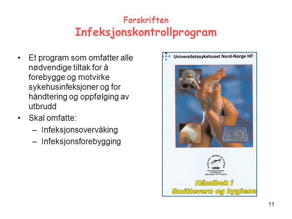 Forskriften Infeksjonskontrollprogram