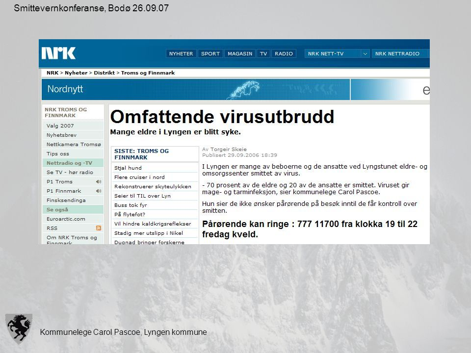 Smittevernkonferanse, Bodø 26.09.07