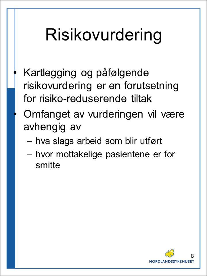 Risikovurdering Kartlegging og påfølgende risikovurdering er en forutsetning for risiko-reduserende tiltak.