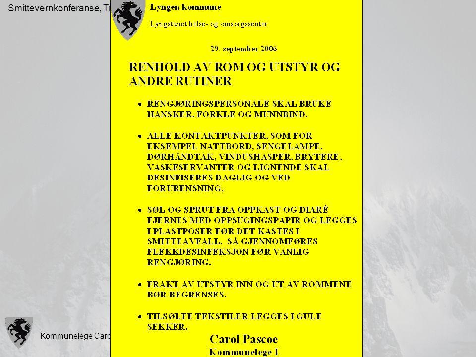 Smittevernkonferanse, Tromsø, 10.10.07