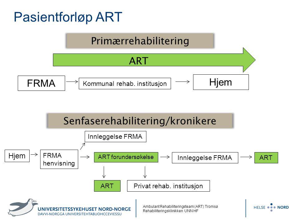 Pasientforløp ART Primærrehabilitering ART Hjem FRMA