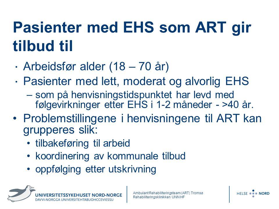 Pasienter med EHS som ART gir tilbud til