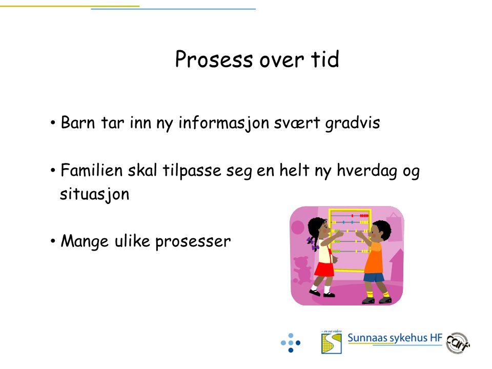 Prosess over tid Barn tar inn ny informasjon svært gradvis