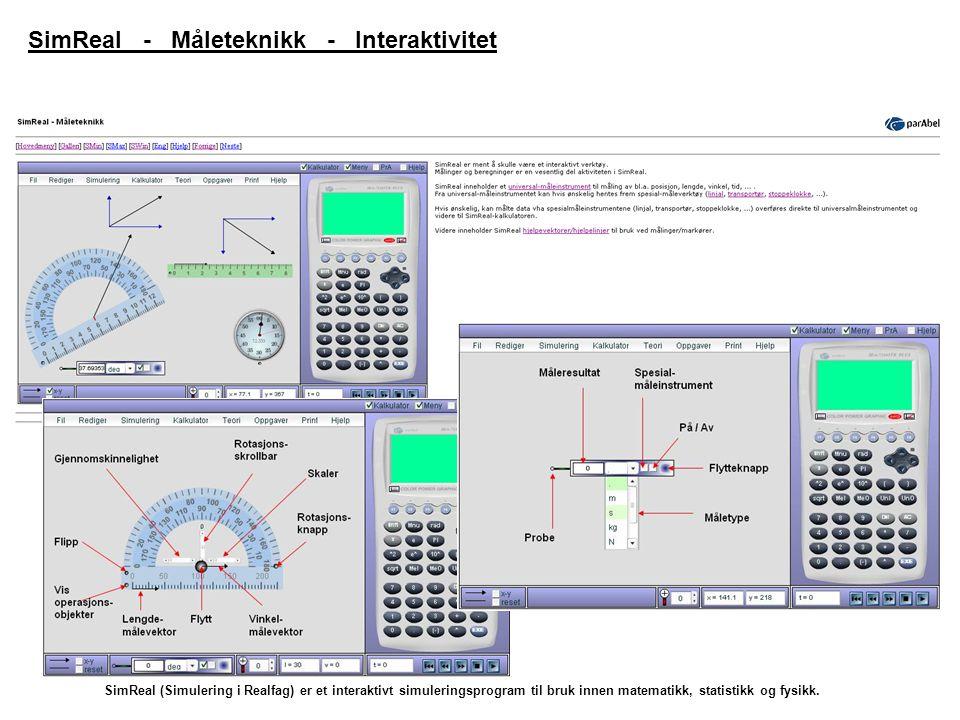SimReal - Måleteknikk - Interaktivitet
