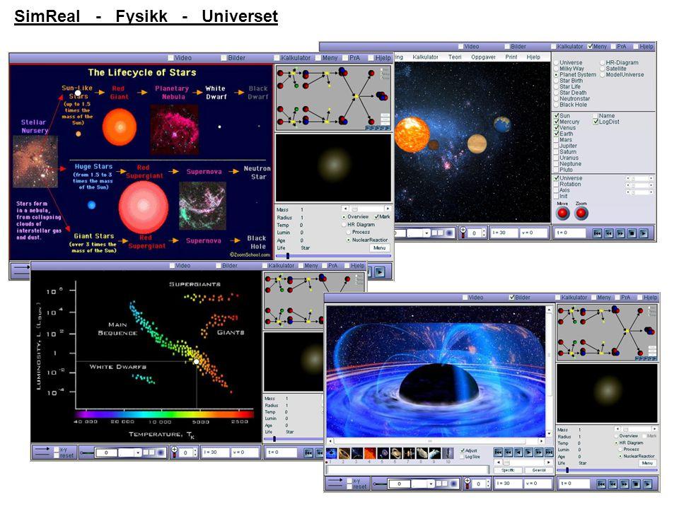 SimReal - Fysikk - Universet