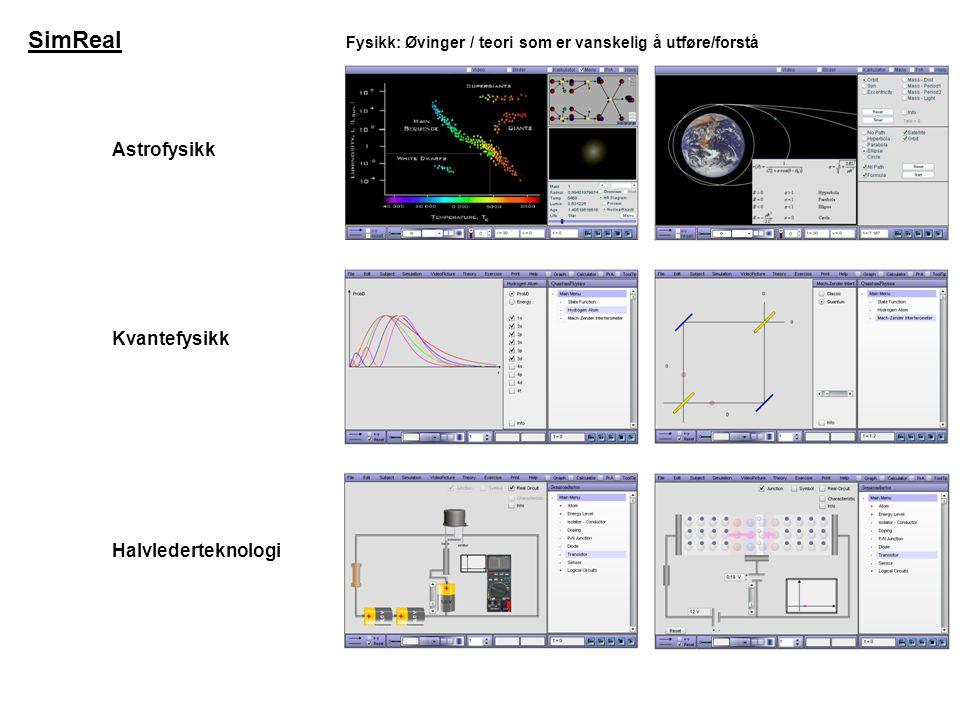 SimReal Astrofysikk Kvantefysikk Halvlederteknologi