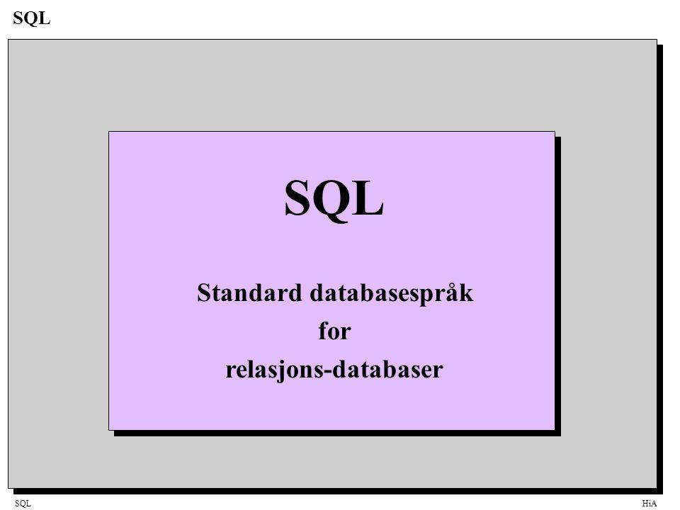 Standard databasespråk