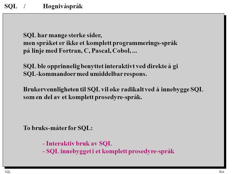 SQL har mange sterke sider,