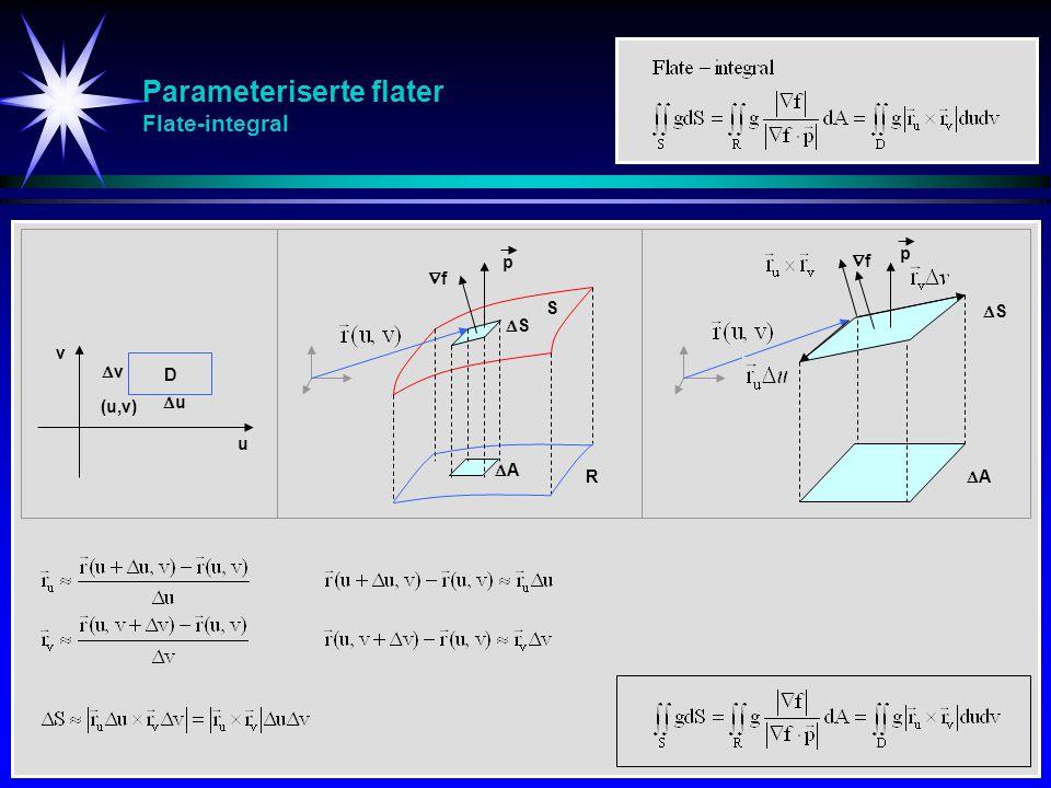 Parameteriserte flater Flate-integral