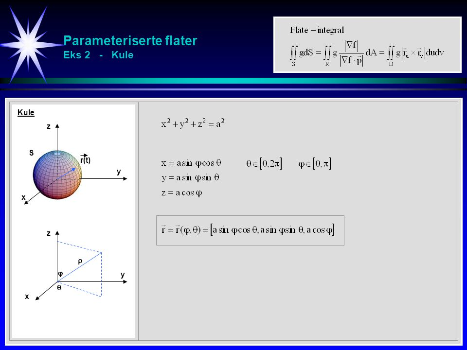 Parameteriserte flater Eks 2 - Kule