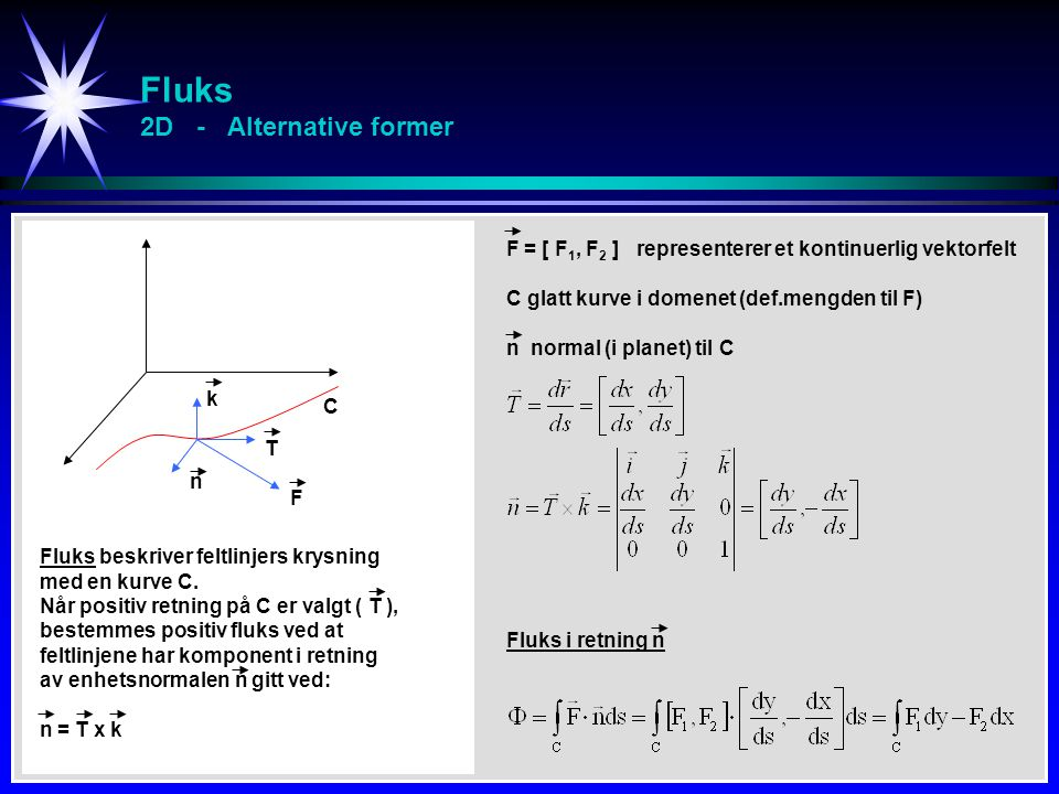 Fluks 2D - Alternative former