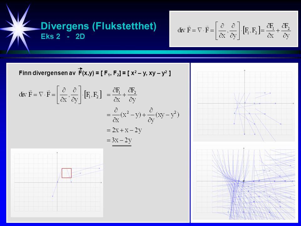 Divergens (Flukstetthet) Eks 2 - 2D