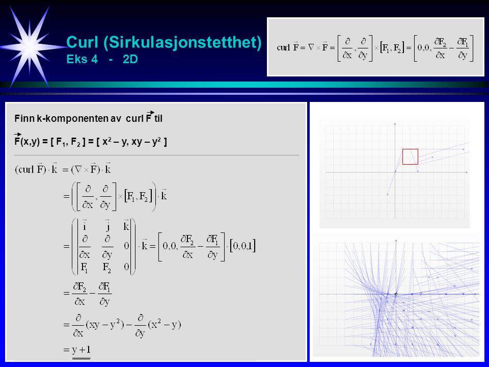 Curl (Sirkulasjonstetthet) Eks 4 - 2D