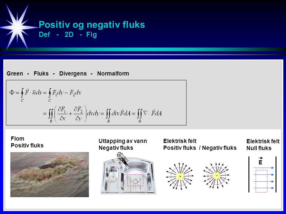 Positiv og negativ fluks Def - 2D - Fig