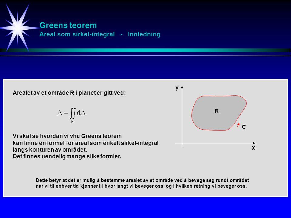 Greens teorem Areal som sirkel-integral - Innledning