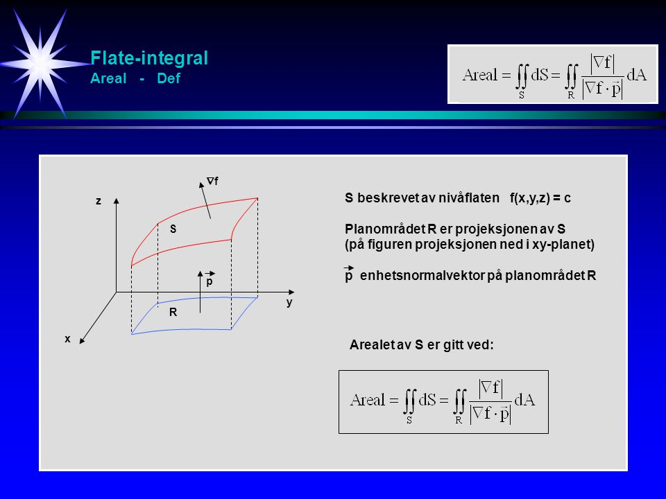 Flate-integral Areal - Def