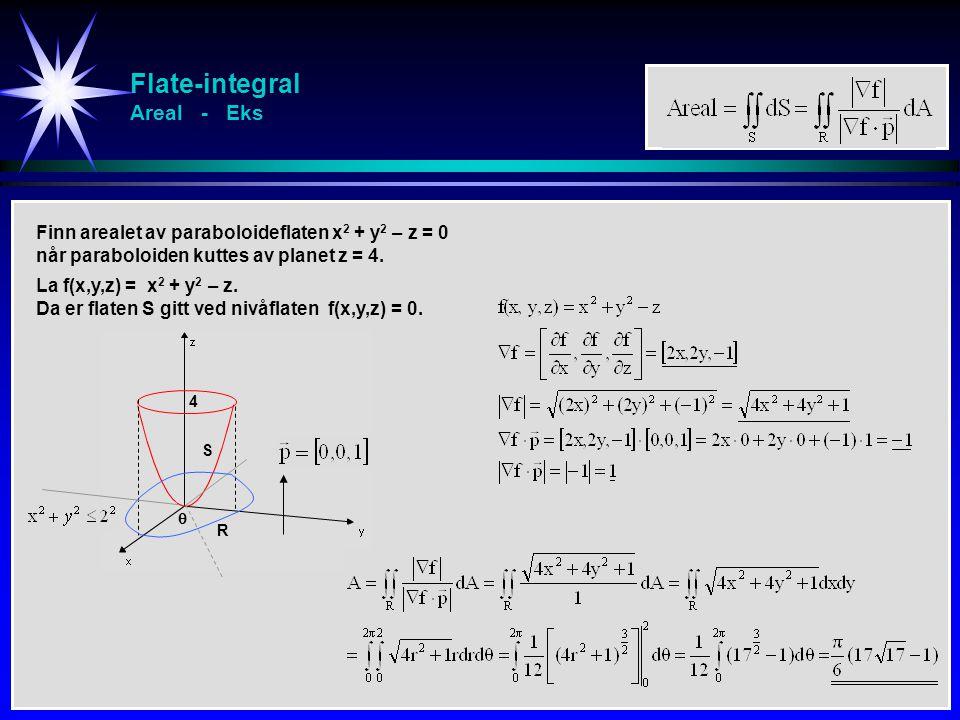 Flate-integral Areal - Eks