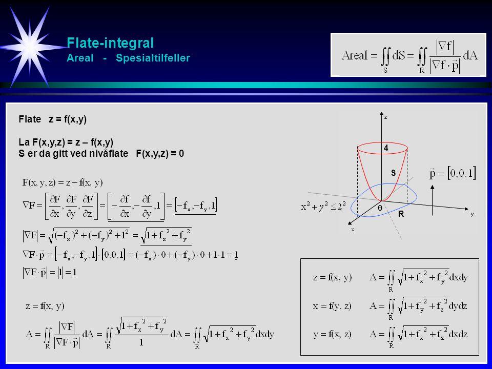 Flate-integral Areal - Spesialtilfeller